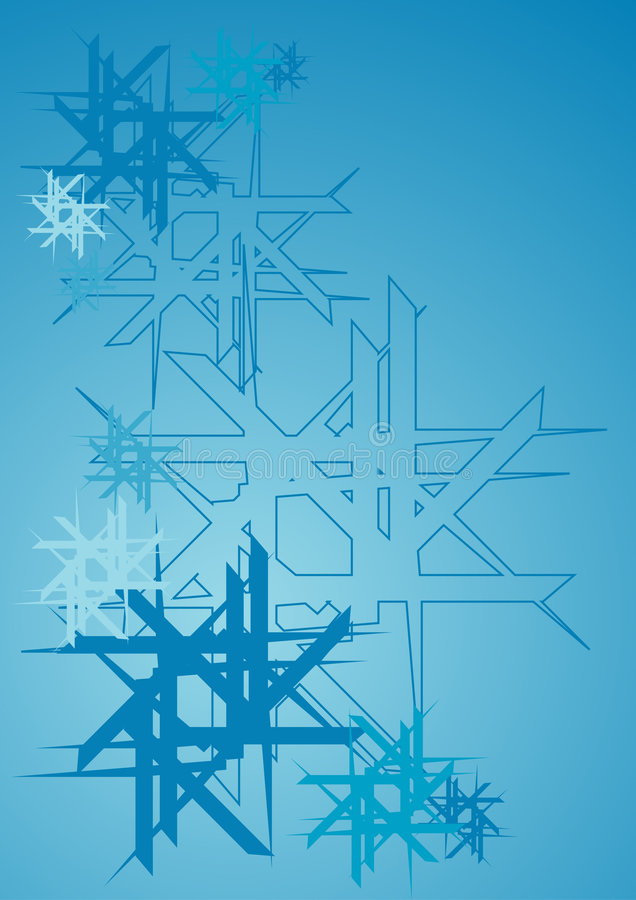 Download Abstract snowflakes stock vector. Illustration of warm - 1360073