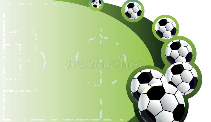 Abstract soccer background. royalty free illustration
