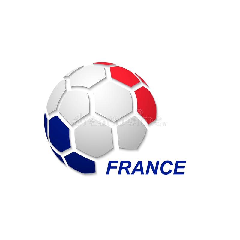 abstract soccer ball with national flag colors vector illustration