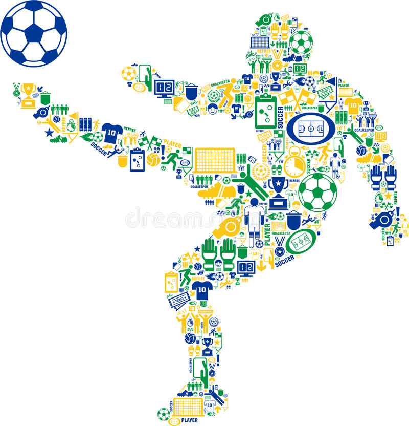 Abstract Soccer Player Royalty Free Stock Images