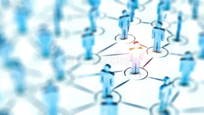 Abstract Sociaal netwerkconcept, verbindende menselijke cijfers royalty-vrije stock foto's