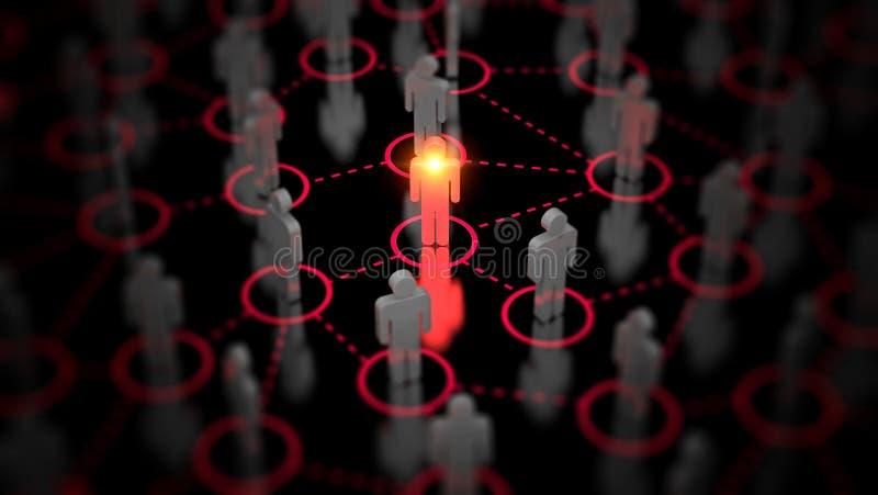 Abstract Sociaal netwerkconcept, verbindende menselijke cijfers stock foto's