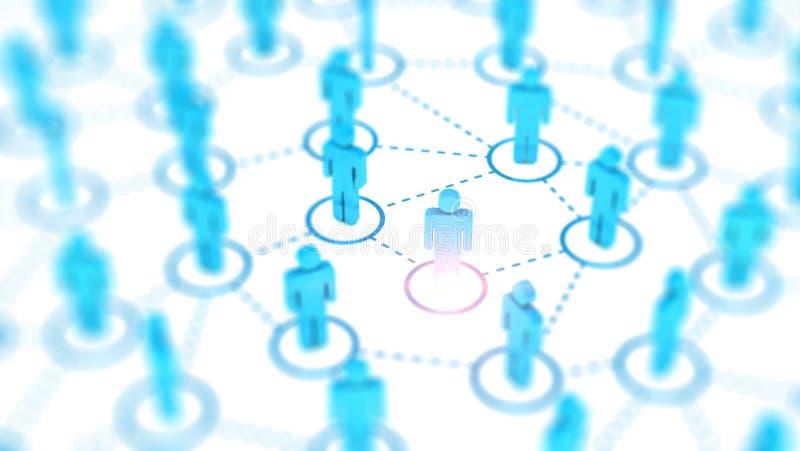 Abstract Sociaal netwerkconcept, verbindende menselijke cijfers stock afbeeldingen