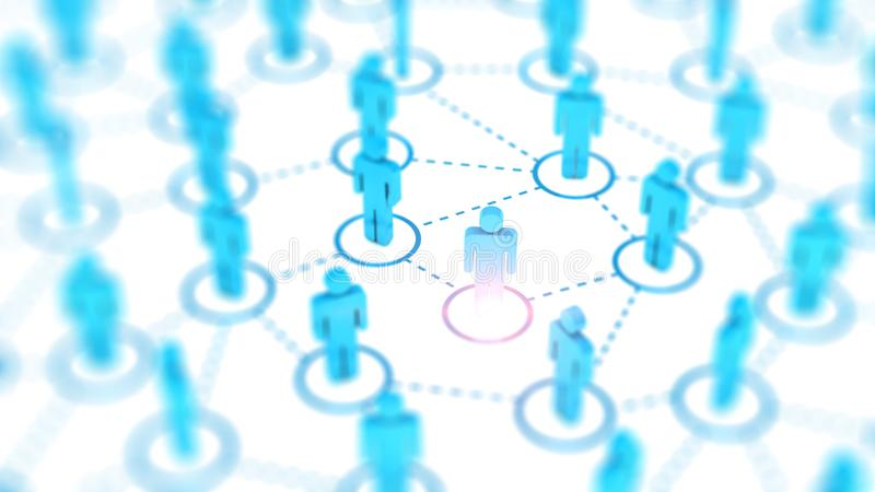 Abstract Social network concept, connecting human figures. stock images