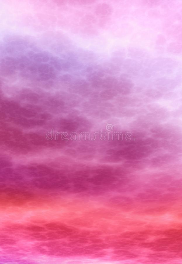 Abstract soft atmospheric magenta background. Atmosphere of a another planet type background.high resolution 3D render royalty free illustration