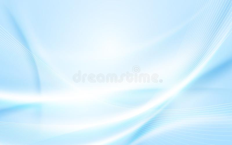 Abstract soft blue wavy with blurred light curved lines background. Space for your text royalty free illustration