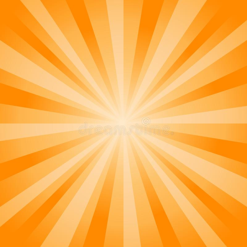 Abstract soft bright Orange rays background. Vector EPS 10 cmyk vector illustration