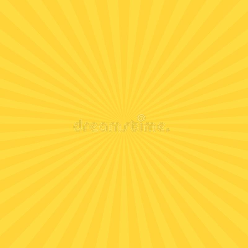 Abstract soft bright Yellow gradient rays background. geometric summer shine. Vector illustration vector illustration
