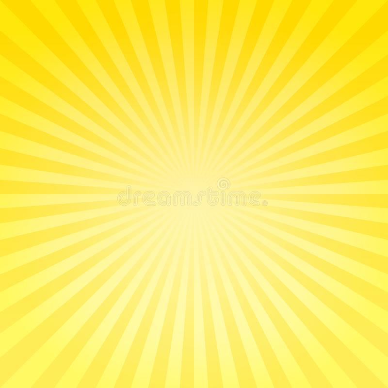 Abstract soft bright Yellow gradient rays background. Vector EPS 10, cmyk royalty free illustration