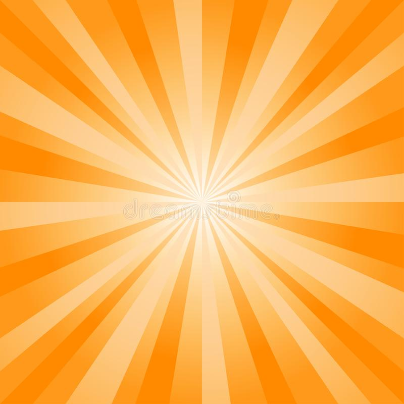 Abstract soft bright Yellow Orange rays background. Vector vector illustration