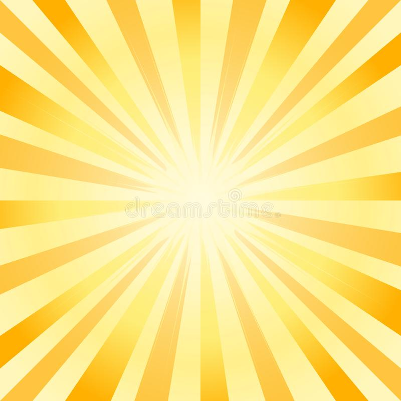 Abstract soft bright Yellow rays background. Vector stock photos