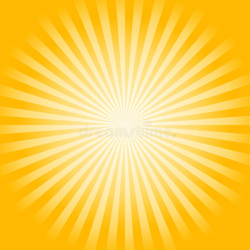 Abstract soft bright Yellow rays background. Vector stock illustration