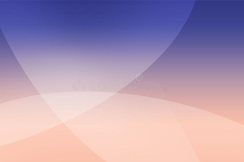 Abstract soft colored pink, purple, blue and dark blue background of abstract with curves wave line overlay. Pink and purple light line curves effect abstract stock illustration
