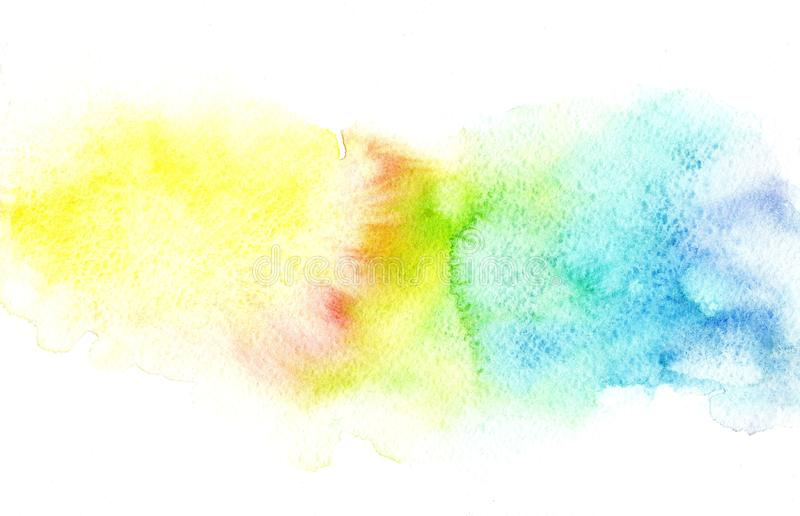 Abstract soft colorful rainbow watercolor blurred background.Graphic element vector illustration