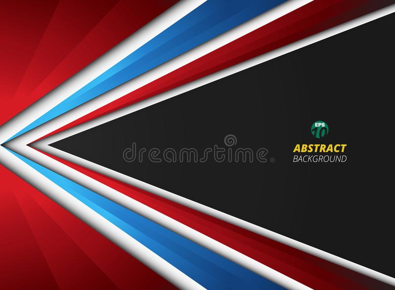 Abstract of soft gradient blue red white colors on black gradient background. vector illustration
