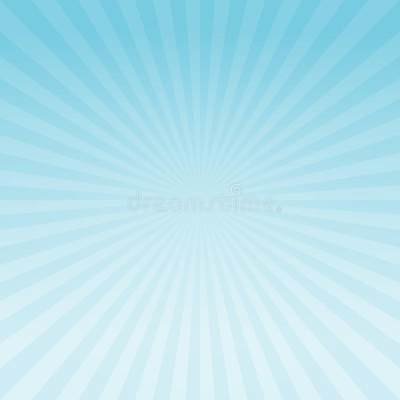 Abstract light Blue gradient rays background. Vector EPS 10 cmyk royalty free illustration
