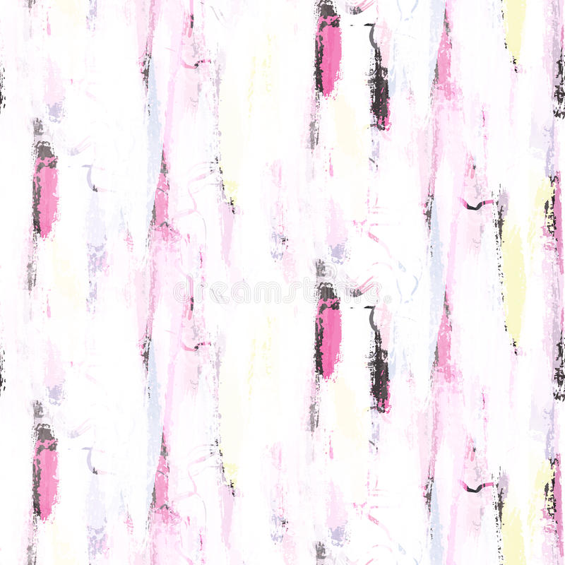 Abstract soft pastel color brushstrokes seamless pattern. Abstract soft pastel color brushstrokes bold seamless pattern. Neon pink and gray colors white royalty free illustration
