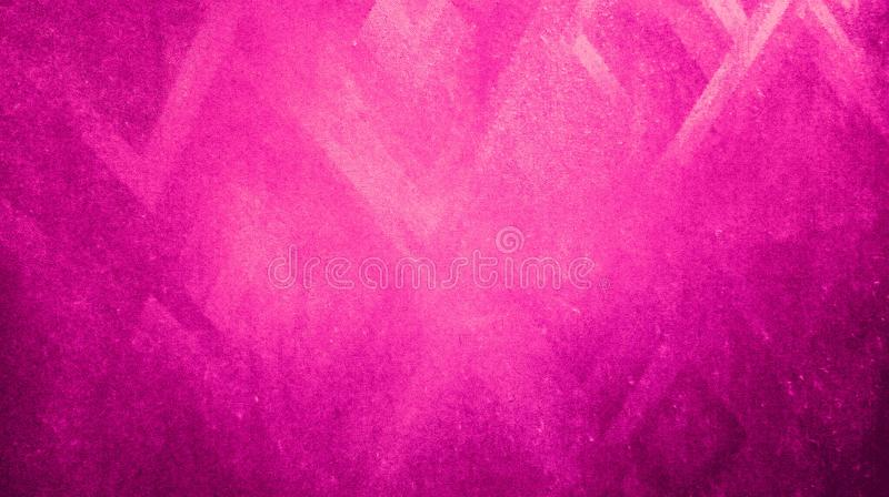 Abstract soft pink color rough dry sharpness triangles texture reflected on blue paper background wallpape stock illustration