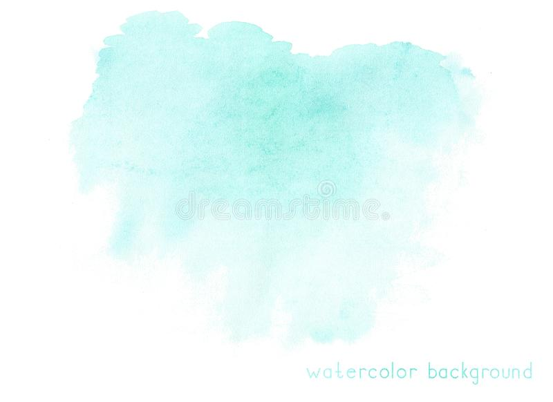Abstract soft watercolor on white background. stock illustration