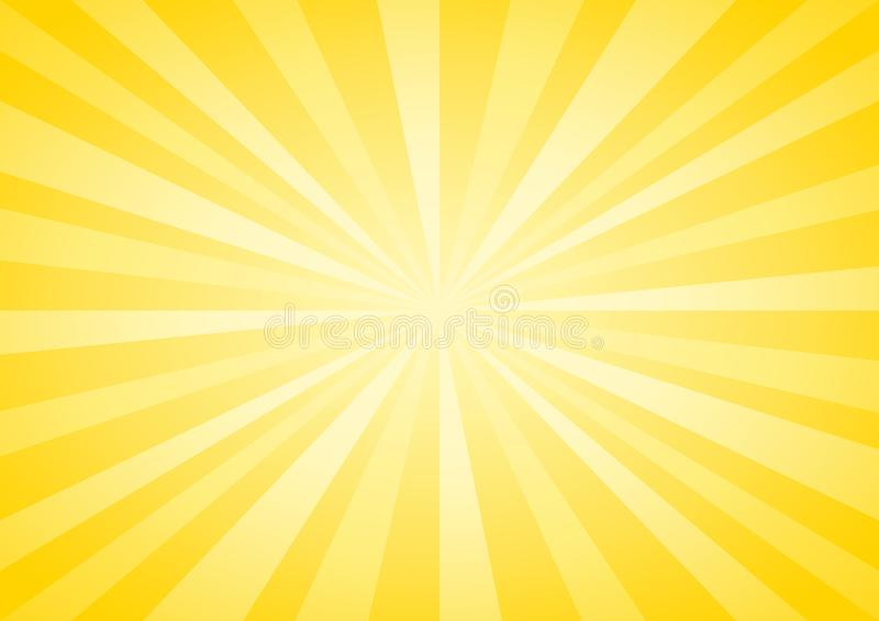 Abstract soft Yellow rays background. Vector EPS 10, cmyk royalty free illustration