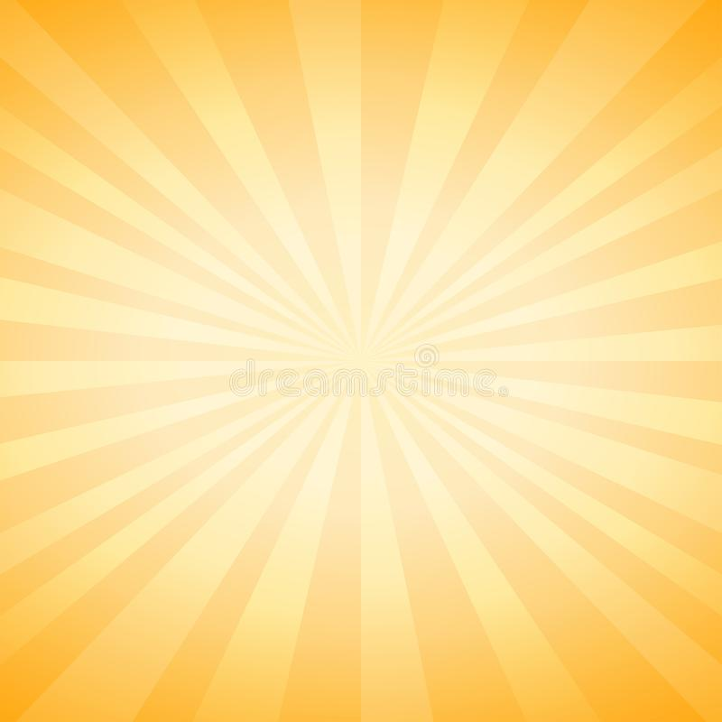 Abstract soft Yellow rays background. Vector vector illustration