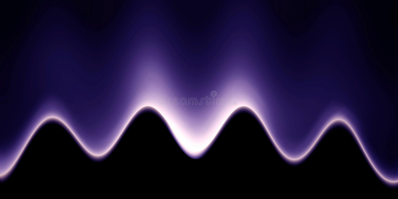 Abstract sound wave royalty free illustration