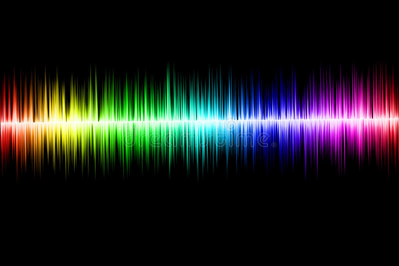 Abstract sound wave vector illustration