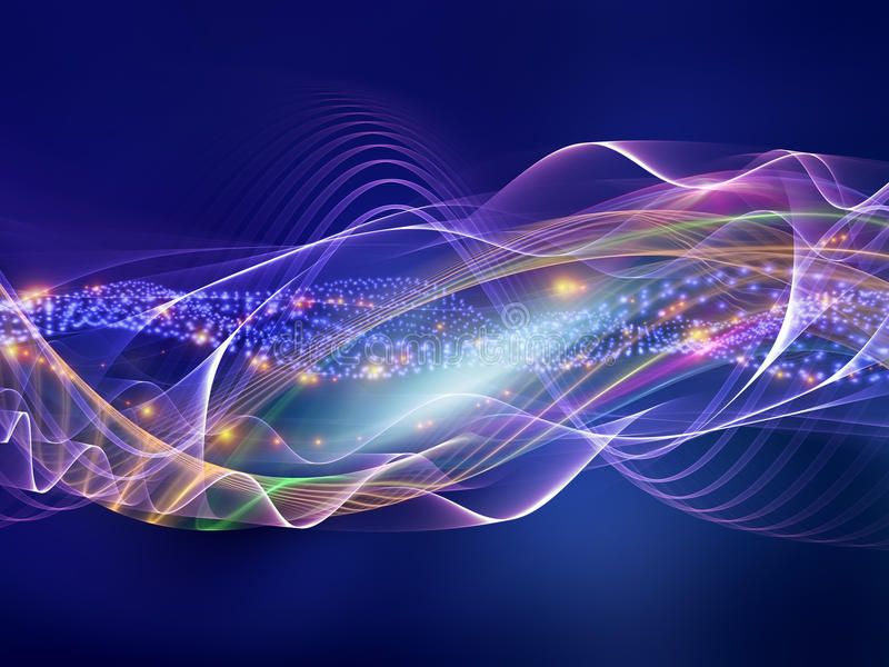 Abstract sound waves vector illustration