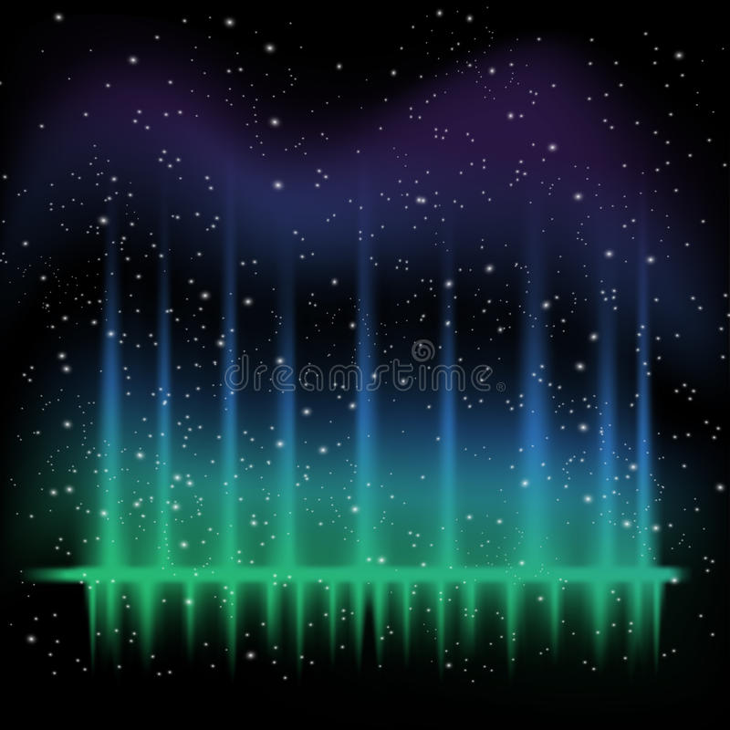 Abstract sound waves. Night sky, deep space vector colorful background, with abstract sound waves vector illustration
