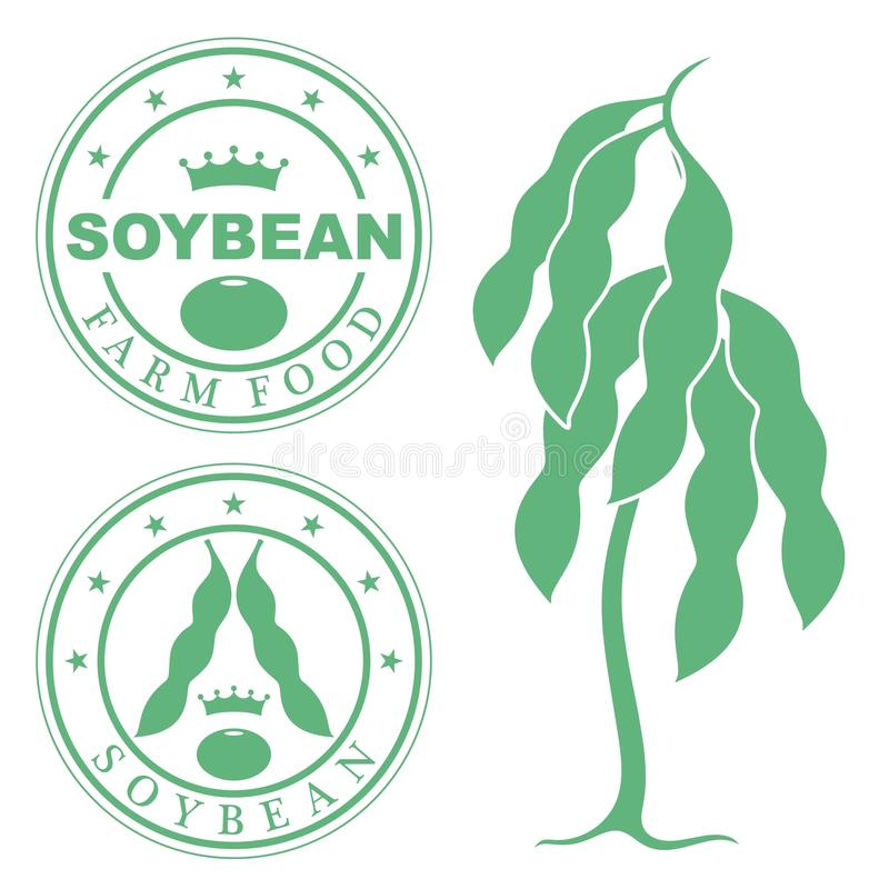 Abstract Soy. Vector illustration EPS stock illustration