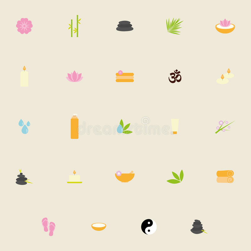 Abstract Spa Icons royalty free illustration