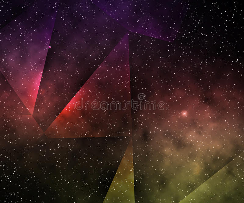 Abstract Space Background royalty free illustration