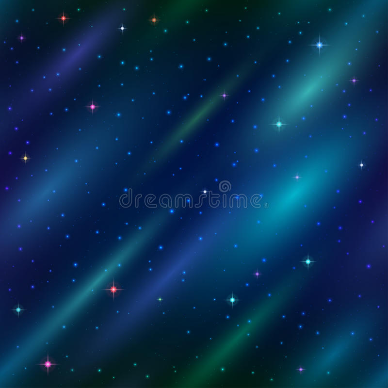 Abstract space background, seamless stock illustration