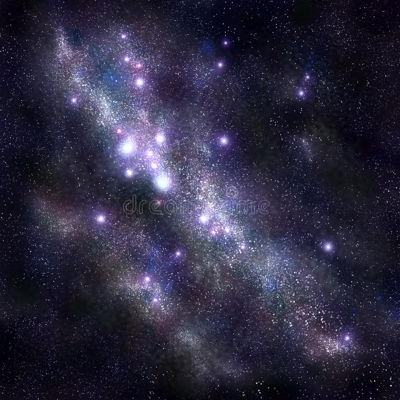 Abstract space background with stars and starfield, nebula stock illustration