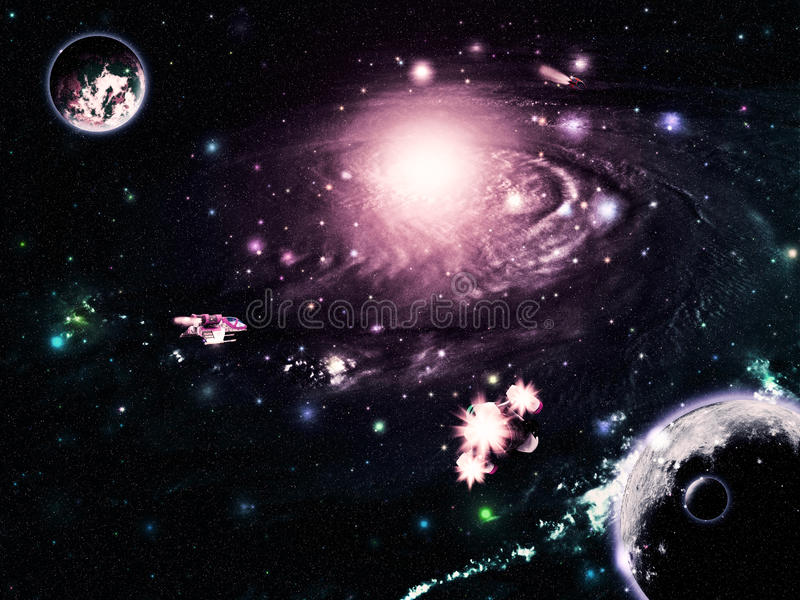Abstract space galaxy royalty free illustration