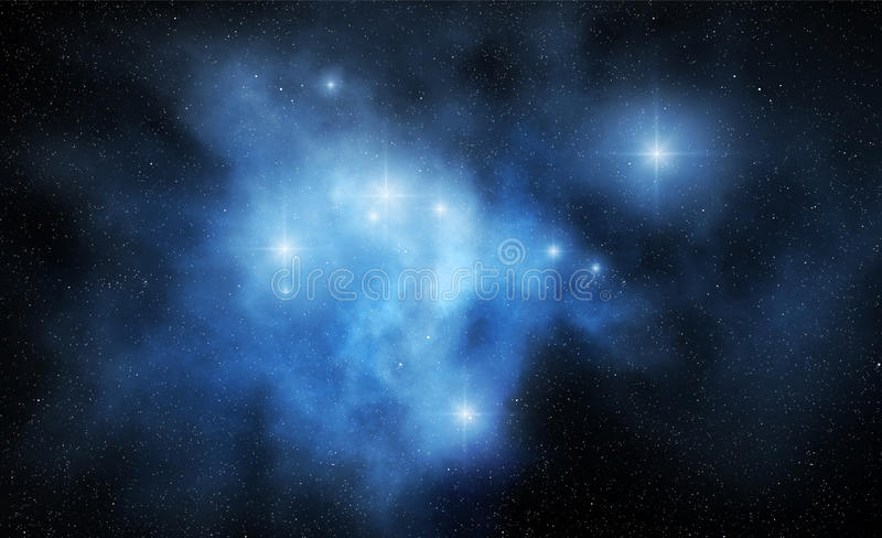 Abstract space nebula stock illustration
