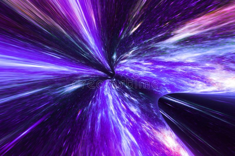 Space warp wallpaper. Abstract space sky warp wallpaper. Creativity and nature concept vector illustration
