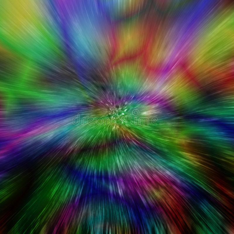 Abstract space warp background. Space warp psychedelic abstract background stock illustration