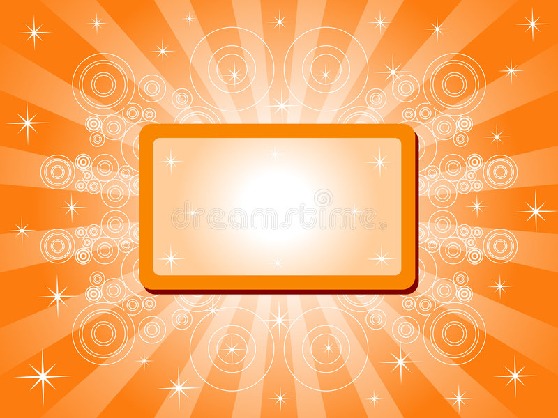 Abstract Sparkling Banner royalty free illustration