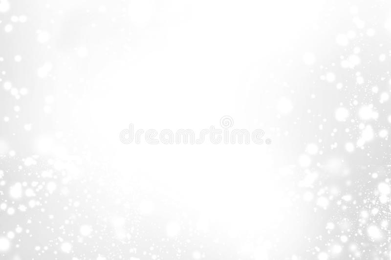 Abstract Sparkling Merry Christmas card with white and silver li royalty free stock images