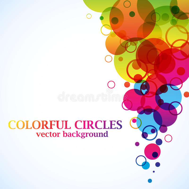 Abstract spectrum circles royalty free illustration