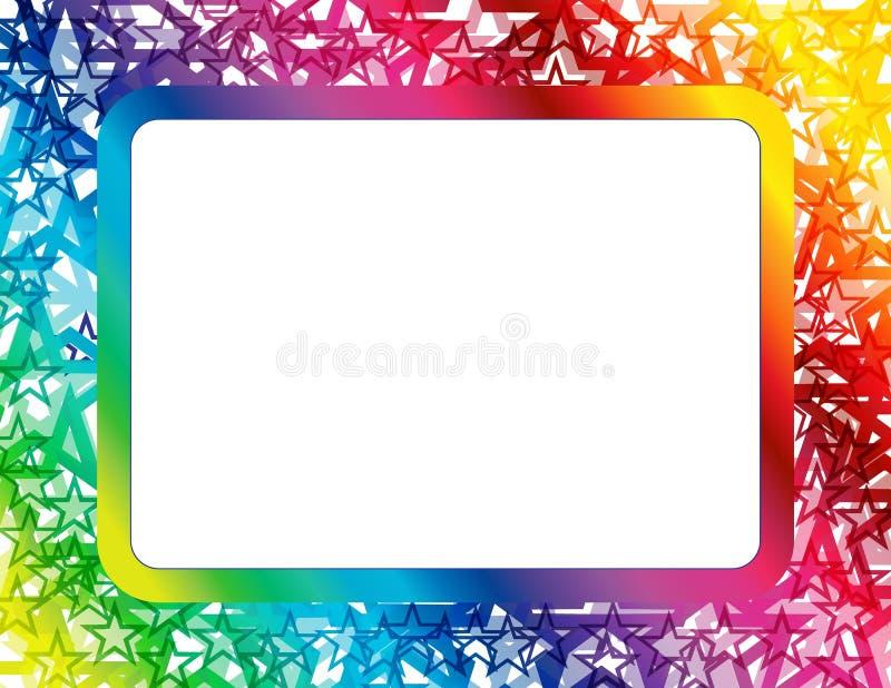 Abstract Spectrum Star Frame Stock Vector - Illustration of design ...