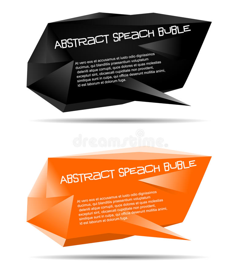 Abstract Speech Bubble Vector Stock Image