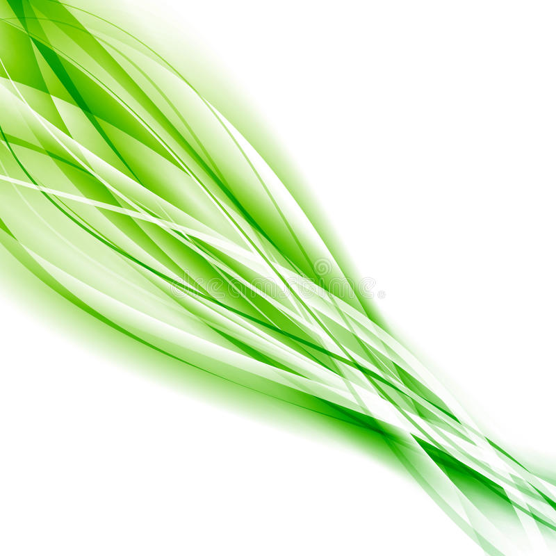 Abstract speed green eco swoosh background. Vector illustration stock illustration