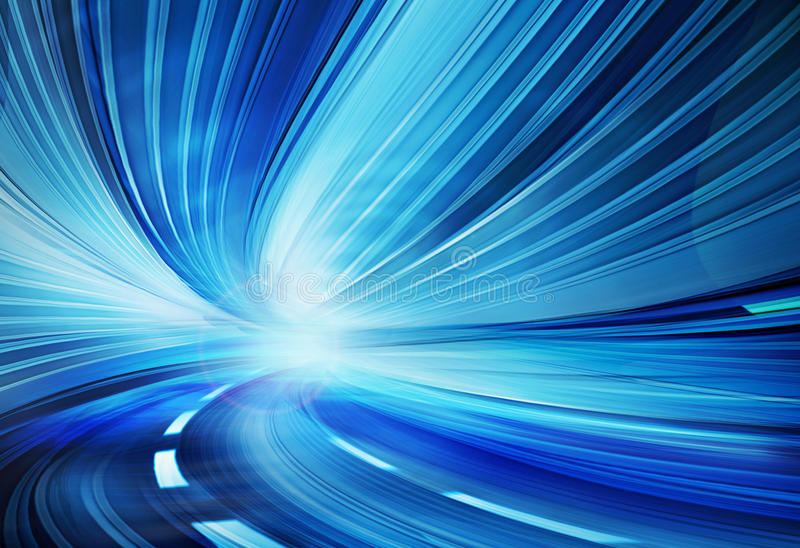Abstract Speed motion on a highway road stock illustration