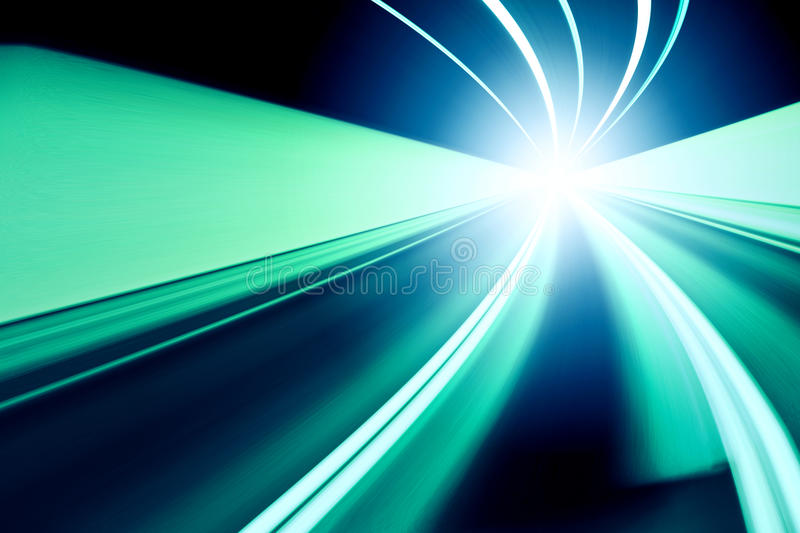 Abstract speed motion on a highway road royalty free stock photography