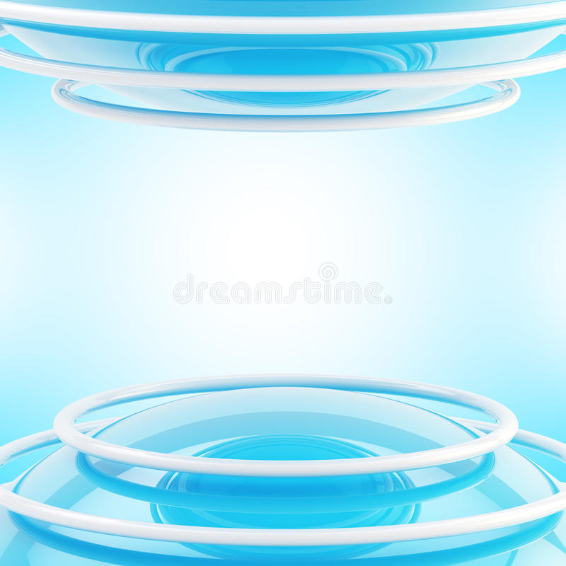 Free Abstract Sphere And Rings Light Background Royalty Free Stock Photo - 29195665