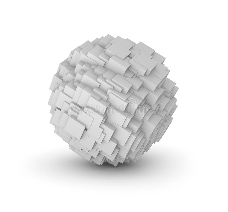 Abstract Sphere Composed From Cubes Royalty Free Stock Photo