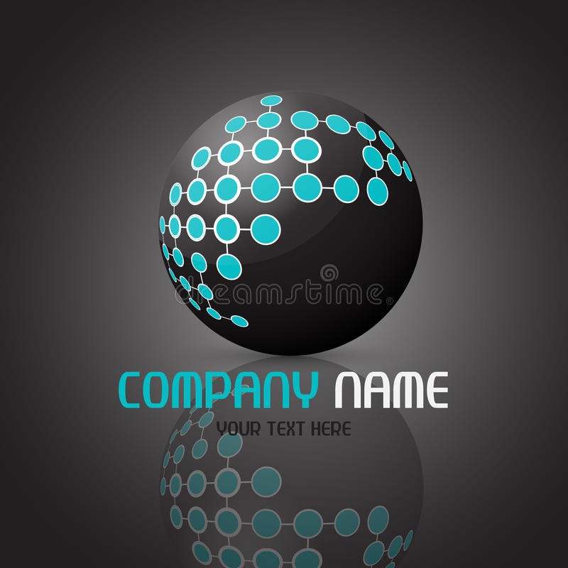 Abstract sphere logo royalty free illustration