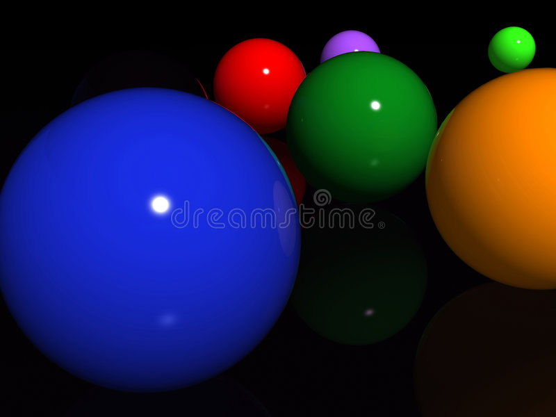 Download Abstract Spheres Over Black Stock Illustration - Illustration: 312796